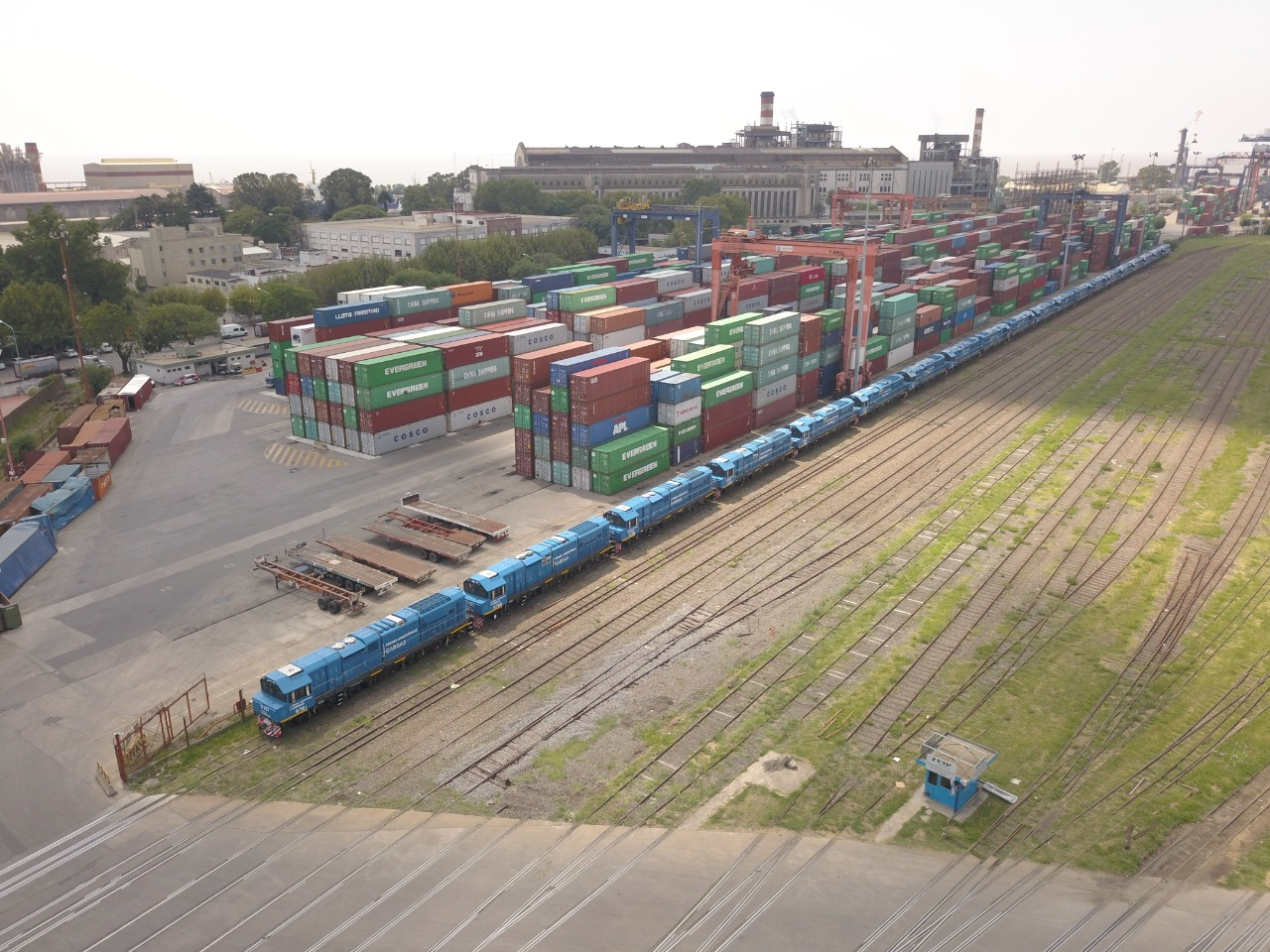El Puerto Buenos Aires duplicó la cantidad de vagones ferroviarios operarios en 10 meses