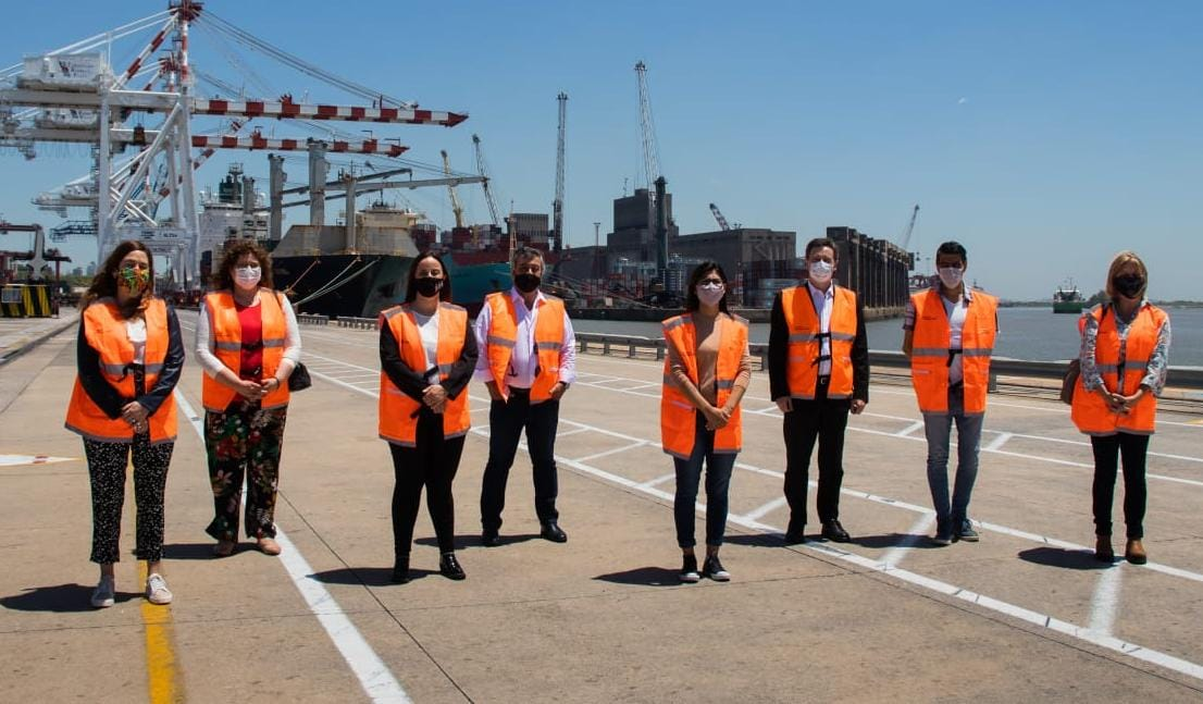 Diputados de la Comisión de Intereses Marítimos, Fluviales y Portuarios visitaron el Puerto Buenos Aires