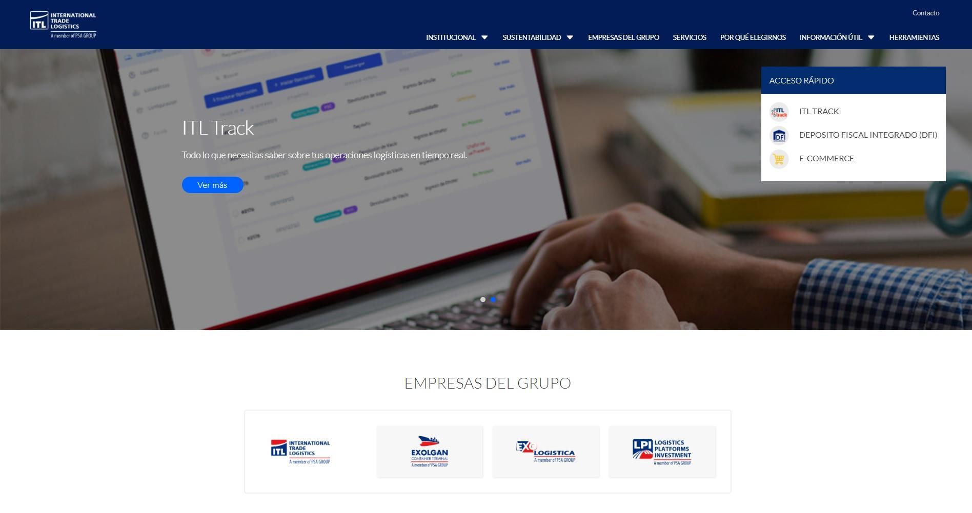 El Grupo ITL renueva su propuesta de interacción digital con una nueva página web