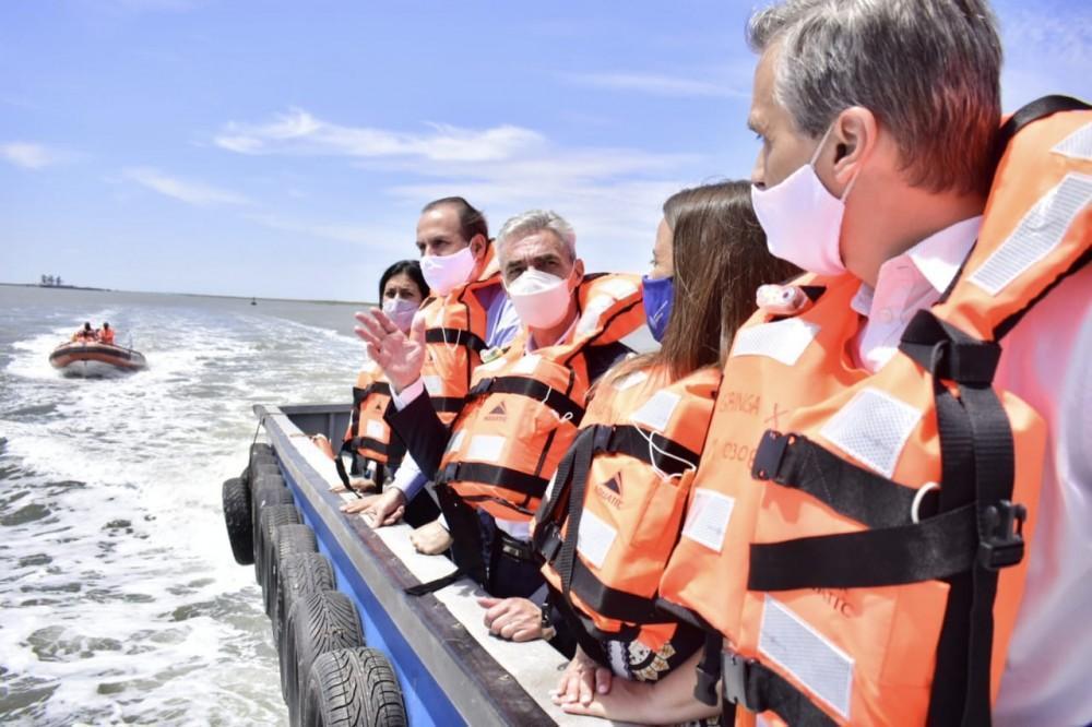 Acuerdan programas de capacitación nacional para los equipos técnicos del Puerto Bahía Blanca