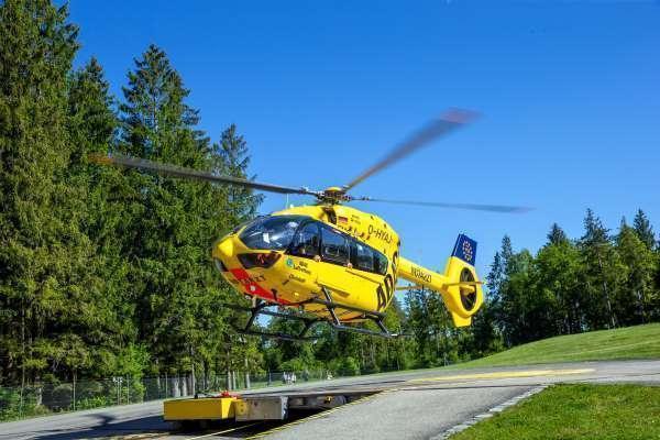 Un helicóptero de rescate voló con combustible hecho a partir de aceite de cocina usado