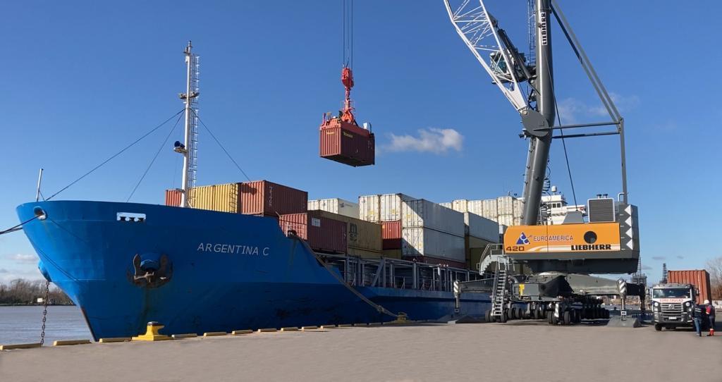 Euroamérica posicionó a Campana como una alternativa de embarque de contenedores