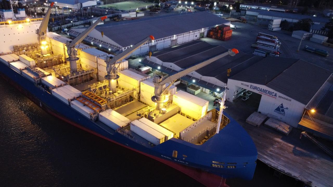 Euroamérica y Multimar marcan un nuevo récord en la exportación de carga refrigerada